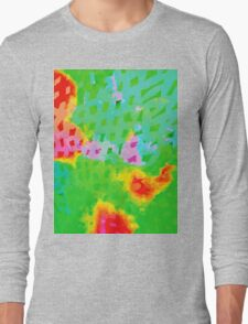 Colorful Abstract Watercolor Painting Background Long Sleeve T-Shirt