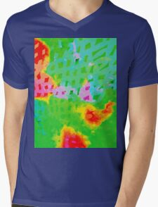 Colorful Abstract Watercolor Painting Background Mens V-Neck T-Shirt