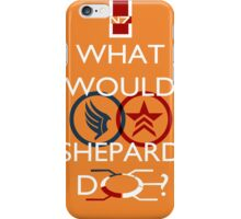 What Would Shepard Do? Mass Effect inspired art iPhone Case/Skin