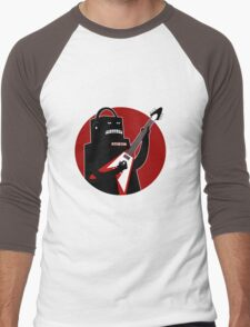 Badbot in Black and Red Men's Baseball ¾ T-Shirt