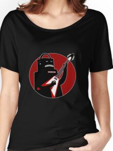 Badbot in Black and Red Women's Relaxed Fit T-Shirt