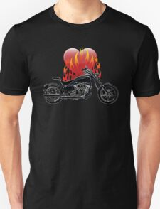 Burning Biker Love T-Shirt