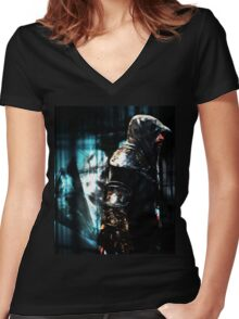 In the Animus Women's Fitted V-Neck T-Shirt
