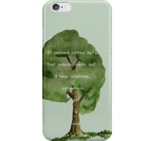 Here Lies A Tree - Eulogy for an old oak iPhone Case/Skin