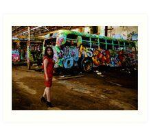 Sydney's Derelict Buses Art Print