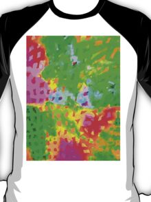 Multicolor Abstract Watercolor Painting T-Shirt
