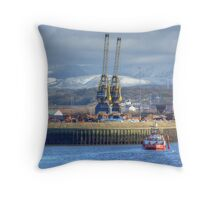 The Port Of Workington Throw Pillow
