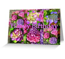 """Happy Birthday! featured in """"Waterlily, Lotus & Hydrangea Group"""" Greeting Card"""