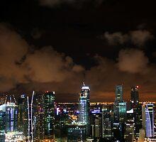 Moonlit Singapore by Vivek Bakshi