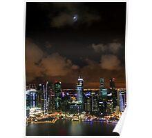 Moonlit Singapore Poster