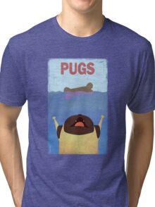PUGS Fake Movie Poster Tri-blend T-Shirt