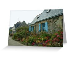 Flowered Cottages Greeting Card