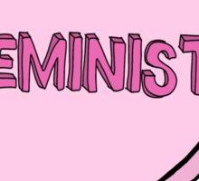 """""""Feminist"""" Love Heart design Sticker"""
