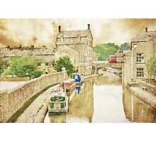 Skipton Canal Barges Photographic Print