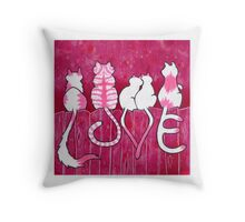 Tails of Love Throw Pillow