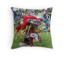 colorful fancy dancer Throw Pillow