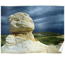 Dramatic Skies at Paint Mines Poster