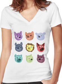 world wildlife Women's Fitted V-Neck T-Shirt