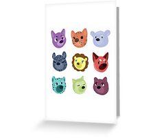 world wildlife Greeting Card