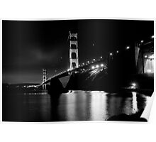 Golden Gate Black and White Poster
