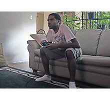 Gamer With P2 Controller  Photographic Print