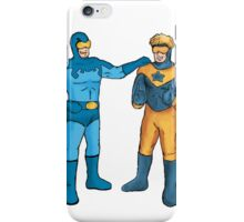 Booster Gold and Blue Beetle iPhone Case/Skin