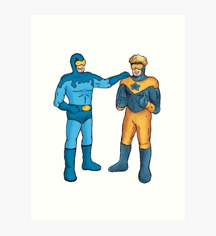 Booster Gold and Blue Beetle Art Print