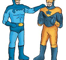 Booster Gold and Blue Beetle by jonnyboyrb