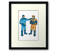 Booster Gold and Blue Beetle Framed Print