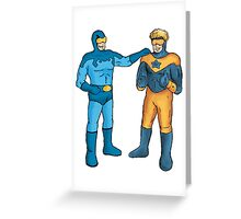 Booster Gold and Blue Beetle Greeting Card