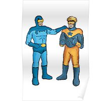 Booster Gold and Blue Beetle Poster