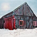 Barn in snow Southbury,CT by sby18