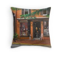 Antique shop Greenwich Vlg.NY Throw Pillow