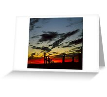Corral Sunset Greeting Card