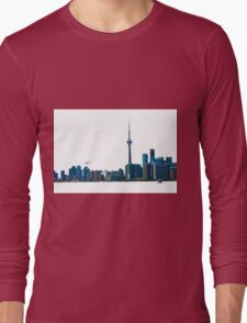Toronto Skyline Graphic with Rogers Centre Long Sleeve T-Shirt
