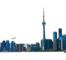 Toronto Skyline Graphic with Rogers Centre by ninasilver