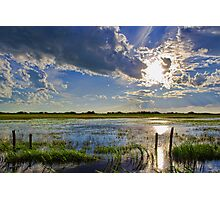 Flooded Field In Alberta Photographic Print