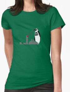 Robopenguin on the Rampage Womens Fitted T-Shirt