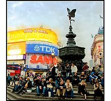 Friday evening at Piccadilly Circus Photographic Print