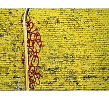 Red Squiggles Photographic Print