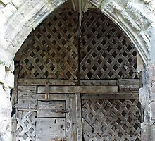 Ancient Castle doors - Chepstow castle by StitchingDreams