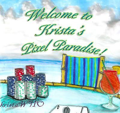 Poker in Pixel Paradise by kristawho