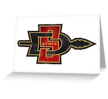 San Diego State Logo Greeting Card
