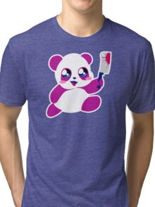 kawaii panda will KILL YOU!  Tri-blend T-Shirt