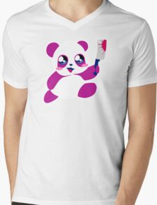kawaii panda will KILL YOU!  Mens V-Neck T-Shirt