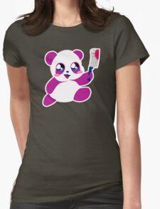 kawaii panda will KILL YOU!  Womens Fitted T-Shirt