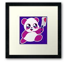 kawaii panda will KILL YOU!  Framed Print