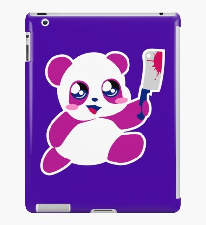 kawaii panda will KILL YOU!  iPad Case/Skin