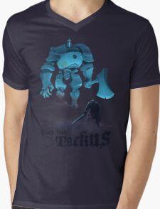 Black Iron Tarkus Mens V-Neck T-Shirt
