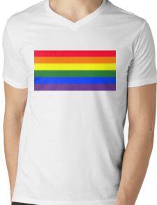 Rainbow flag Mens V-Neck T-Shirt